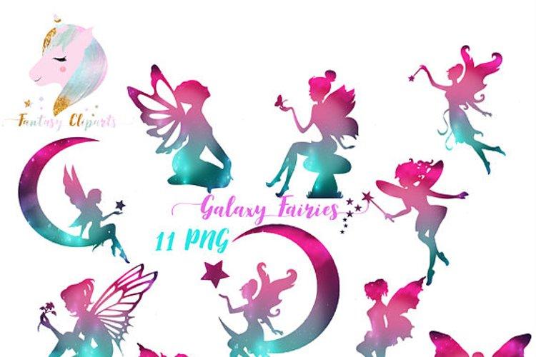 Galaxy Fairies Clipart