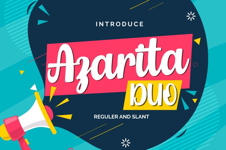 Azarita Duo | Regular & Slant Font example image 1