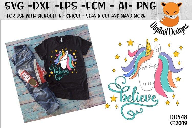 Unicorn Believe Fantasy SVG example image 1