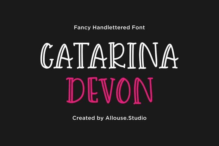 Catarina Devon - Fancy Handlettered Font example image 1
