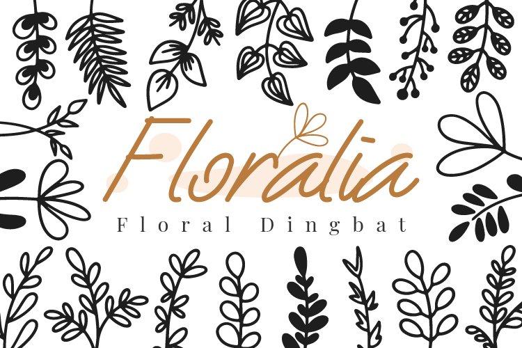 Floralia Floral Dingbat font example image 1