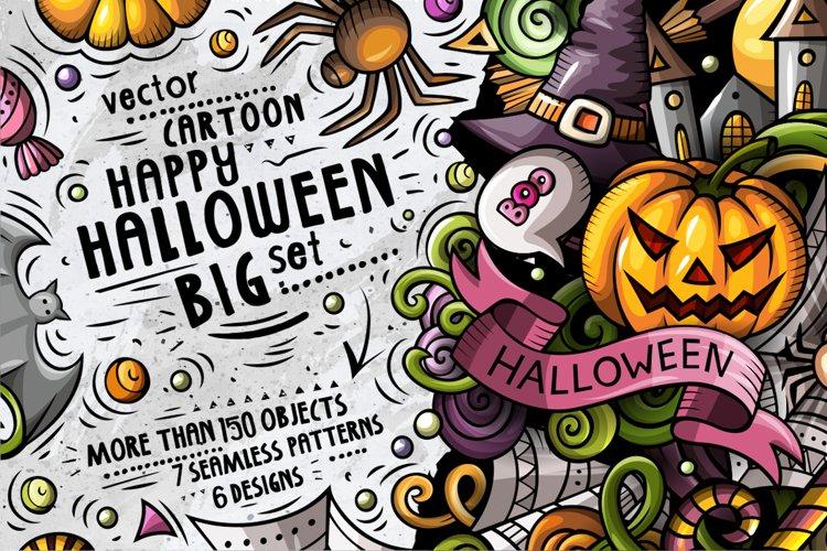Happy HALLOWEEN Cartoon Doodle Big Pack