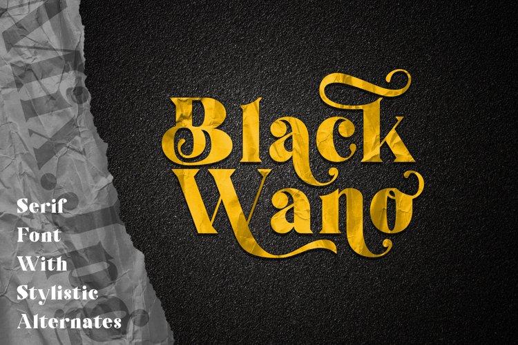 Black Wano Serif Typeface example image 1