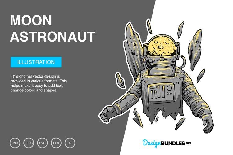 Moon Astronaut Vector Illustration example image 1