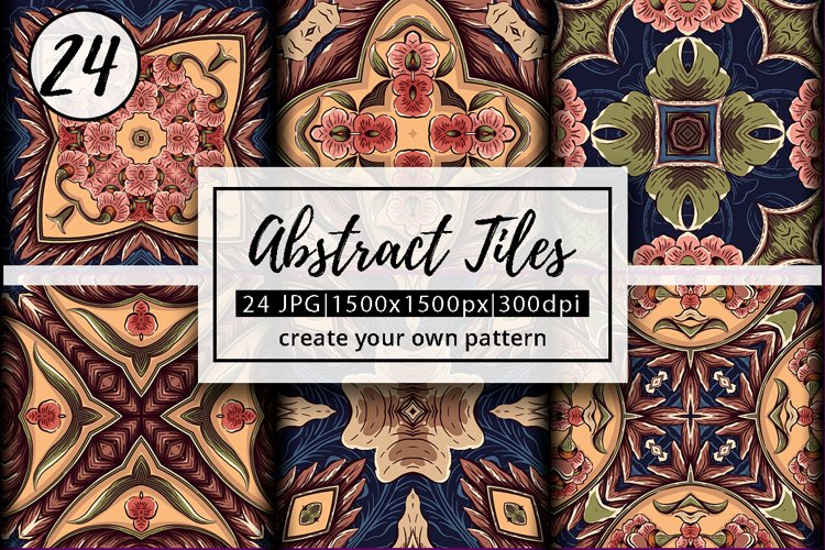 Abstract Zentangle Pattern Tiles | abstract background