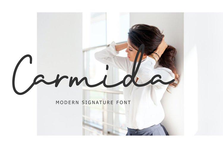 Carmida Modern Signature Font example image 1