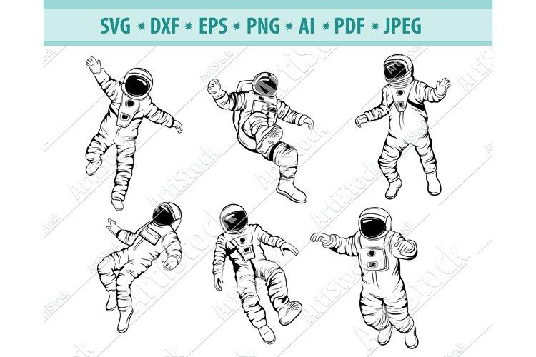 Astronaut SVG, Space Svg, Astronaut Clipart, Png, Dxf, Eps