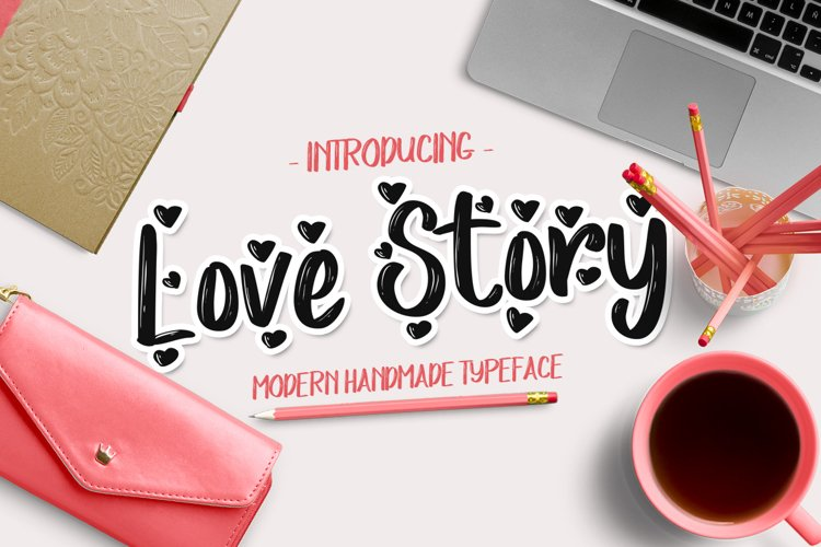 Love Story Font example image 1
