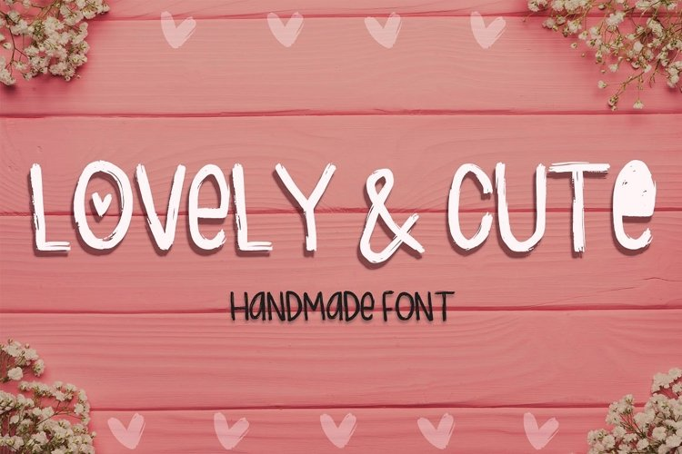 Lovely & Cute - 3 Handmade fonts! example image 1
