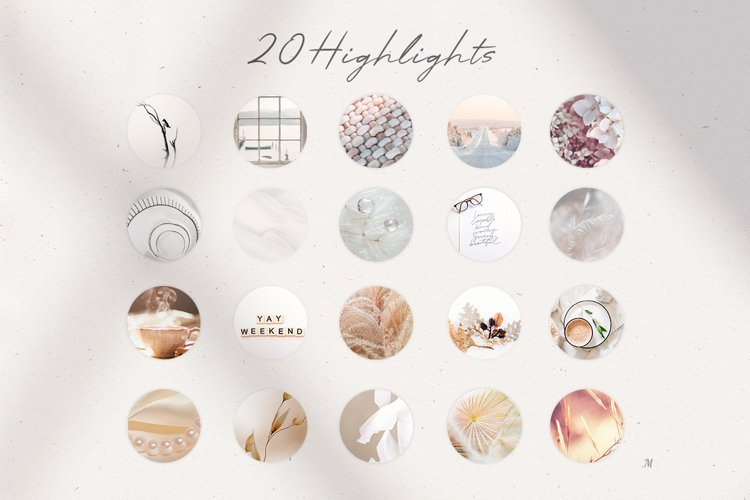 20 Instagram universal elegant Highlight Covers for Stories example image 1