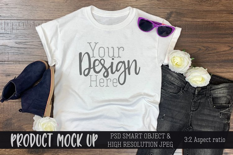 Youth girls outfit II Craft Mockup | PSD & JPEG example image 1