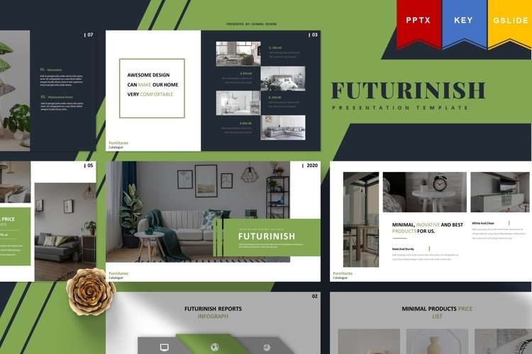 Futurinish | Powerpoint, Keynote, GoogleSlides Template example image 1