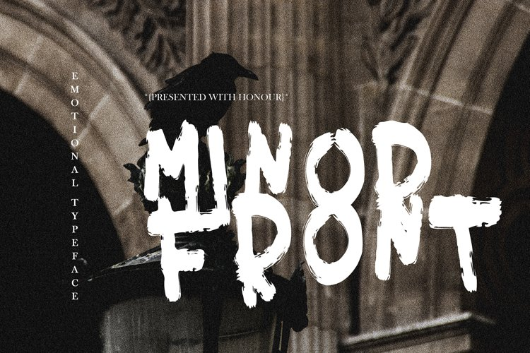 MINOR FRONT BRUSH FONT example image 1