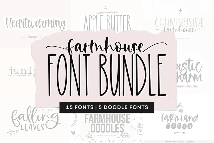 Farmhouse Font Bundle Handwritten Fonts For Crafters 715162 Handwritten Font Bundles