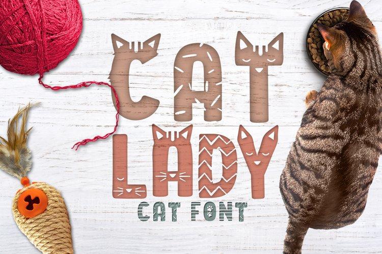 Cat Lady - Cat Font
