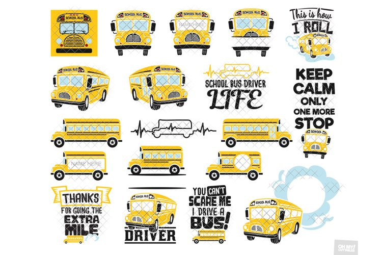 School Bus SVG Driver in SVG, DXF, PNG, EPS, JPG