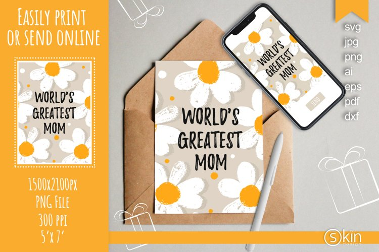 Worlds Greatest Mom with daisy, svg