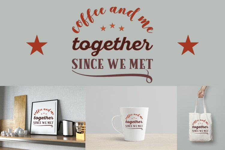 Coffee And Me Cut file