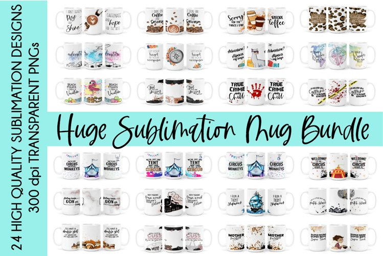 HUGE Sublimation Mug Bundle | 15oz Mug Full Wrap Sublimation example image 1
