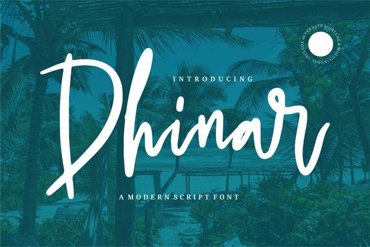 Web Font Dhinar - A Modern Script Font example image 1