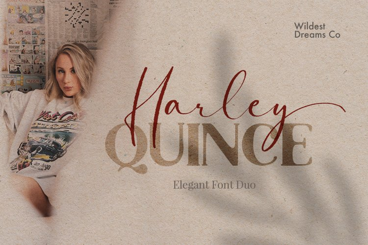 Harley Quince Elegant Font Duo