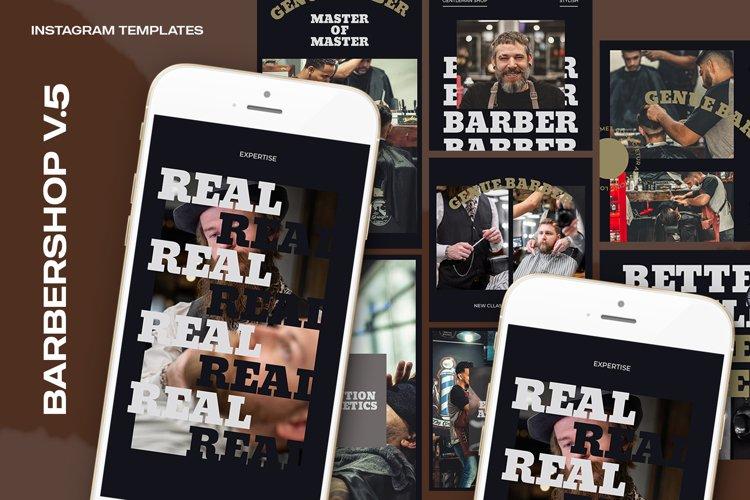 Barbershop V.5 Instagram Templates example image 1