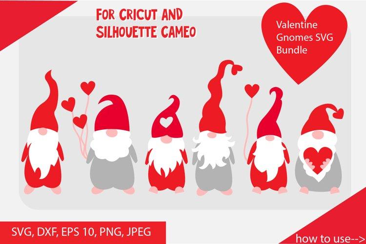 Valentine gnomes SVG cut files Bundle