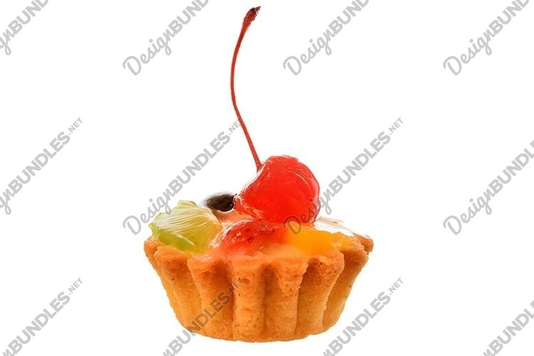 Stock Photo - Homemade piece of a pie isolated on white example image 1