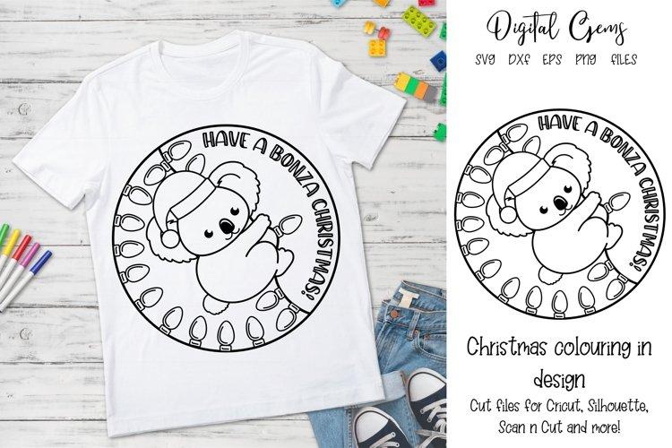 Australian Christmas Koala design. SVG / DXF / EPS / PNG