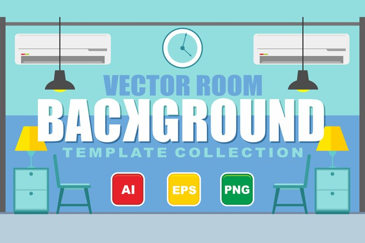 Vector Room Background Template Collection