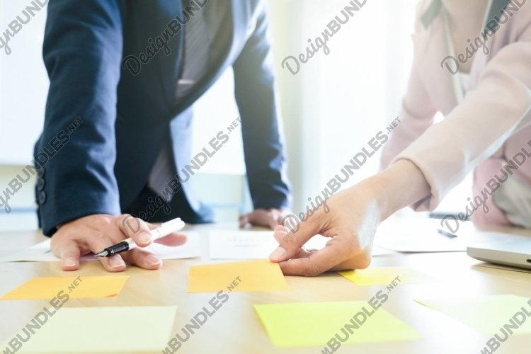 Business share and planing strategy brainstroming concept. example image 1
