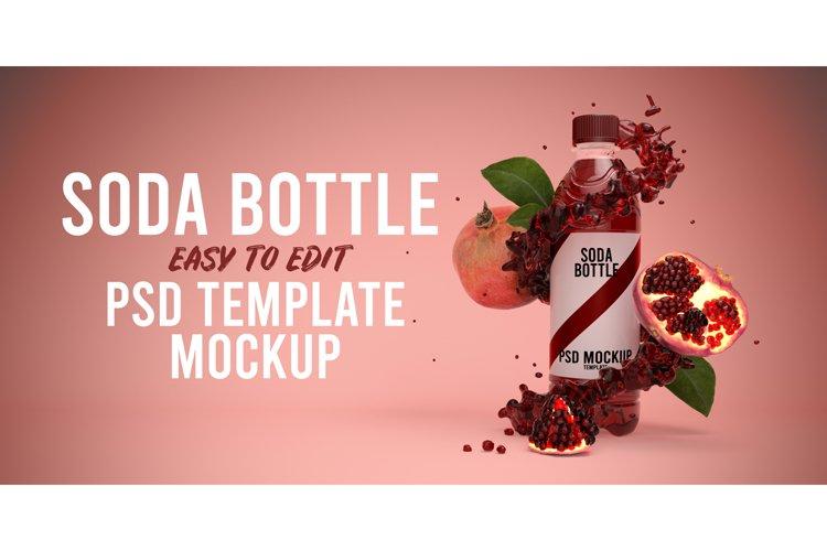 Pomegranate Soda bottle mockup example image 1