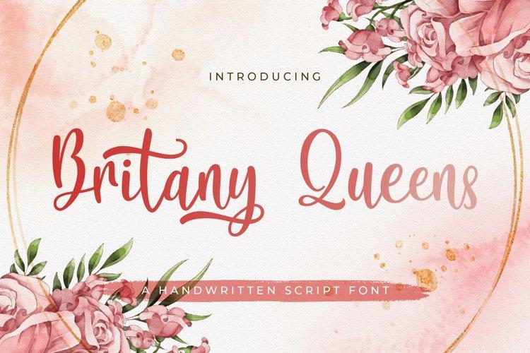 Britany Queens - Handwritten Font example image 1