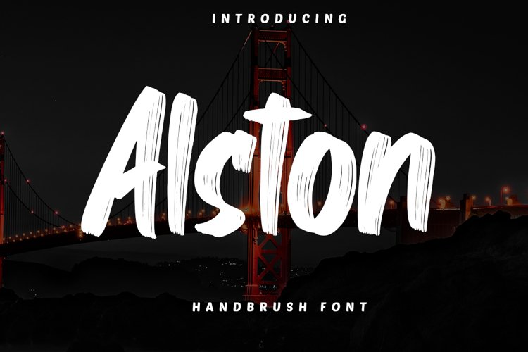 Alston - Handbrush Font example image 1