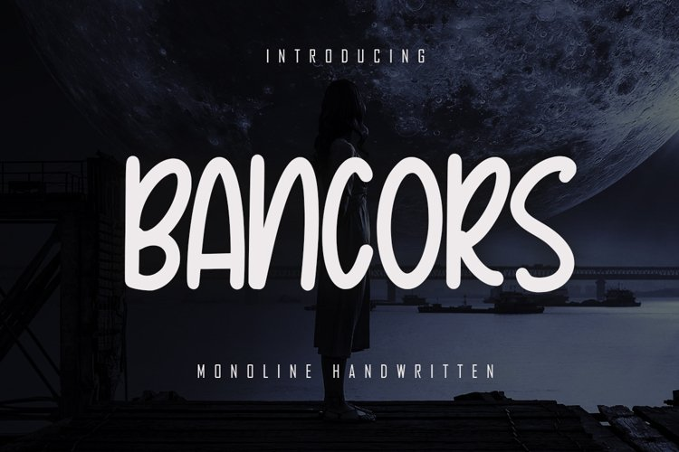 Bancors - Monoline Font example image 1