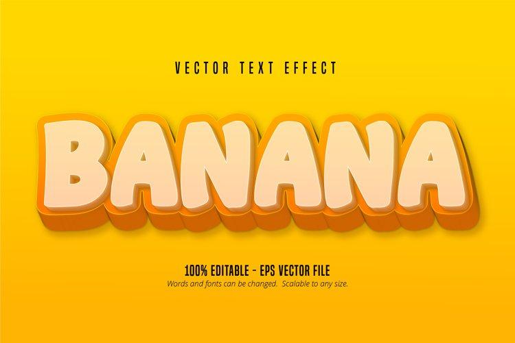 Banana text, cartoon style editable text effect example image 1