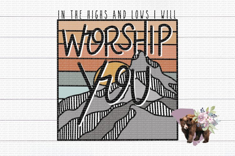 Worship You PNG File / Sublimation Clipart File example image 1