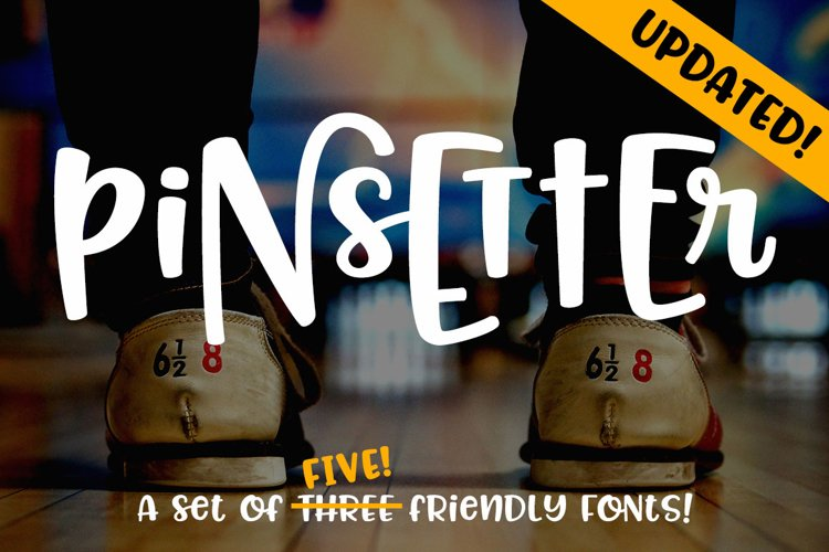 Pinsetter - Expanded! Five fun fonts for mixing and matching! example image 1