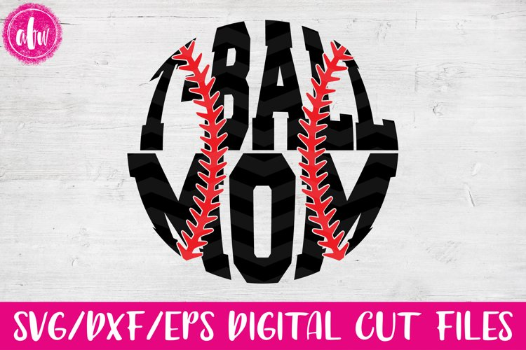 T-Ball Mom - SVG, DXF, EPS Cut Files example image 1