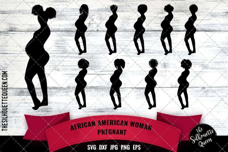 African American Woman Pregnant example image 1