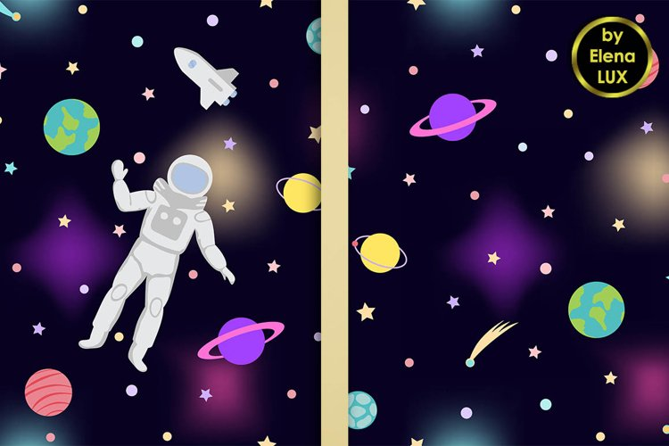 Space Seamless Patterns set
