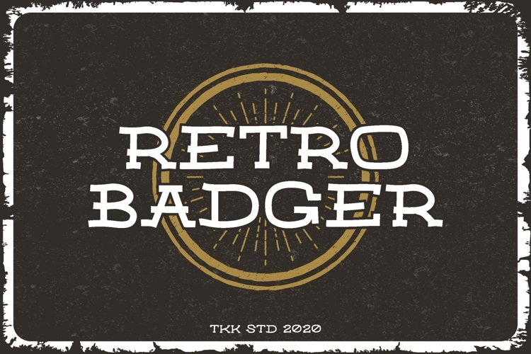 RETRO BADGER - Western Font example image 1