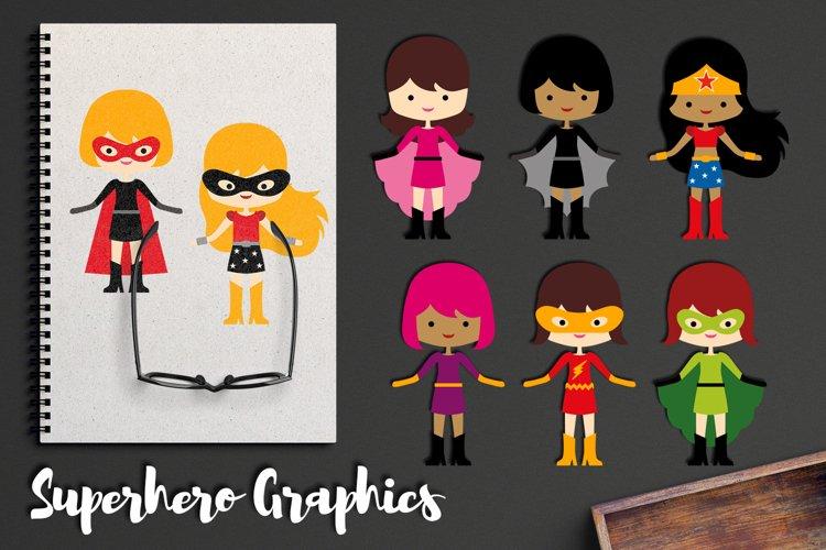 More girl superhero clipart graphics / superheroes girls example image 1