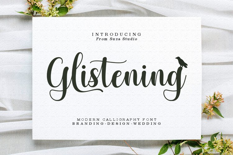 Glistening Script example image 1