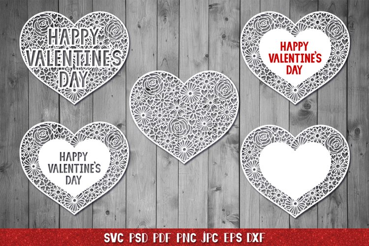 Heart SVG,Happy Valentines Day,Floral Heart,Heart Papercut