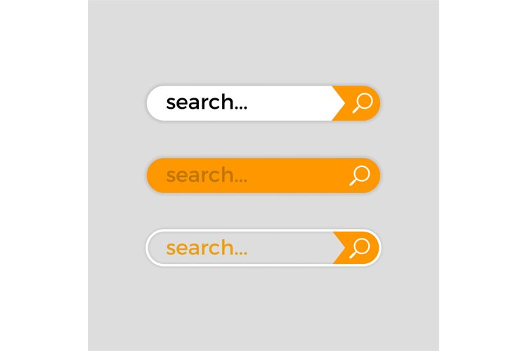 Search web bar, vector internet user interface example image 1