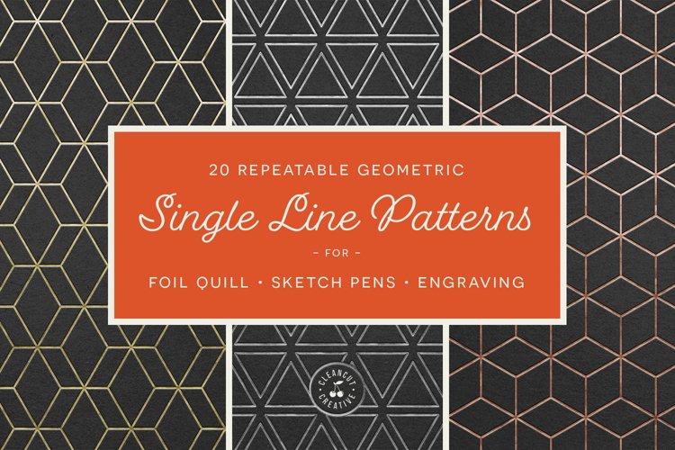 Foil Quill designs SVG | 20 Geometric Single Line Patterns