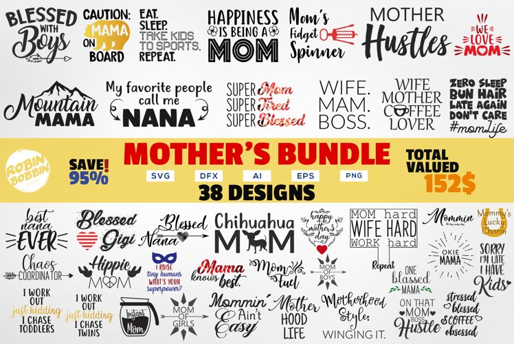 Mother Bundle SVG - Mothers Quotes SVG Bundle