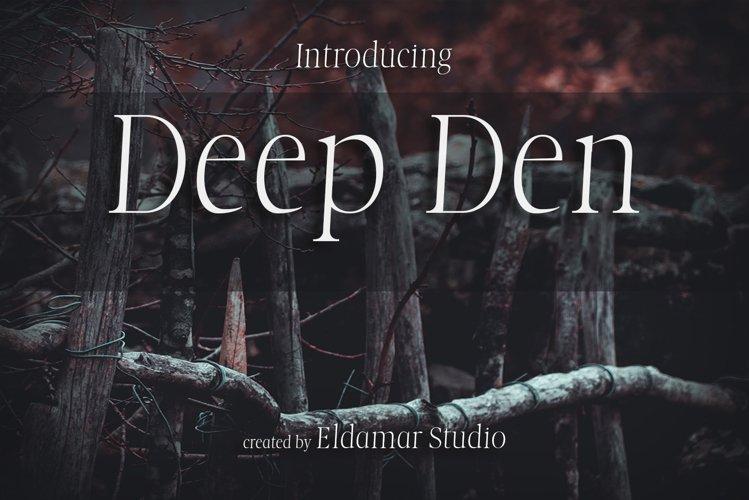 Deep Den Font example image 1