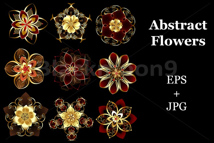 Jewelry abstract flowers example image 1
